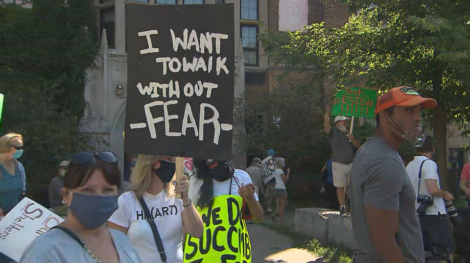 Residents Protest Over Temporary Shelters In Toronto S Midtown Neighbourhood Cp24 Com